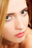 Portrait of blond woman closeup Royalty Free Stock Images