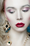 Portrait of a blond woman Royalty Free Stock Images
