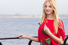 Portrait of blond woman Royalty Free Stock Image