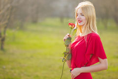 Portrait of blond woman Royalty Free Stock Images