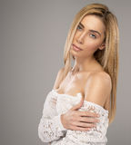 Portrait of blond woman Stock Image
