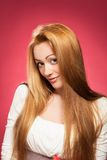 Portrait of a blond woman Royalty Free Stock Photos