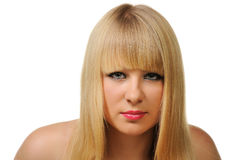 Portrait of the blonde Royalty Free Stock Images