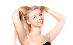 Portrait of the blonde. Royalty Free Stock Image
