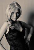 portrait of blonde Stock Images