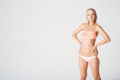 Portrait of a blonde in a bathing suit Royalty Free Stock Photo