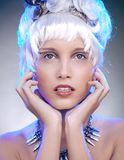 Portrait of a blonde beauty Stock Images