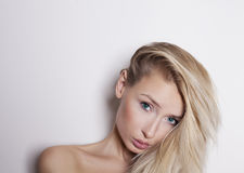 Portrait of blonde beauty. Royalty Free Stock Photos
