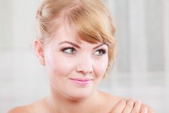 Portrait of blonde beauty woman Stock Photo