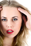 Portrait of the blonde with blue eye Royalty Free Stock Photography