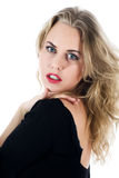 Portrait of the blonde with blue eye Royalty Free Stock Photo