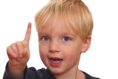 Portrait of a blonde boy Stock Photo