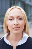 Portrait of a blonde business woman Royalty Free Stock Photo