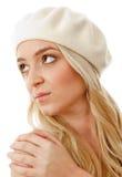 Portrait of blonde female wearing cap Stock Photos