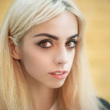 Portrait of a blonde girl. Royalty Free Stock Image