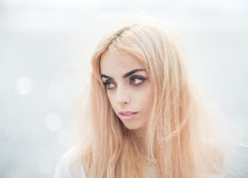 Portrait of a blonde girl. Royalty Free Stock Photos