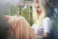 Portrait of a blonde girl. Royalty Free Stock Images