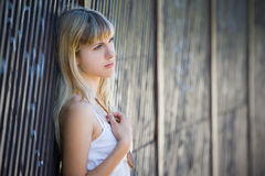 Portrait of a blonde girl Royalty Free Stock Photo