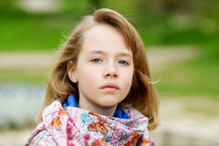 Portrait of blonde girl Royalty Free Stock Images