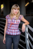 Portrait of a blonde model Royalty Free Stock Photography