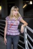 Portrait of a blonde model Stock Image
