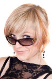 Portrait of  the blonde in sunglasses Royalty Free Stock Photo