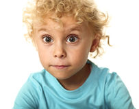 Portrait of blonde white child Royalty Free Stock Photo