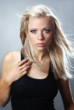Portrait of a blonde woman. Royalty Free Stock Images