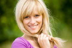 Portrait of  blonde woman Royalty Free Stock Photos