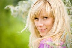 Portrait of  blonde woman Stock Image