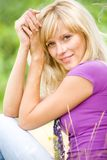 Portrait of  blonde woman Stock Photo