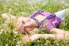 Portrait of  blonde woman Royalty Free Stock Image