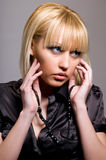 Portrait of a blonde woman Stock Images