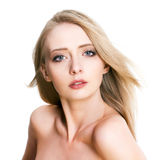 Portrait of a blonde woman Royalty Free Stock Images
