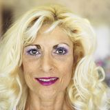 Portrait of blonde woman. Royalty Free Stock Images