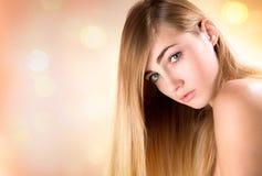 Portrait blonde woman Royalty Free Stock Photos