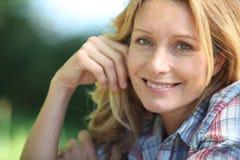 Portrait of blonde woman Stock Photos