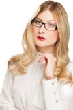 Portrait of blonde young business woman Royalty Free Stock Image
