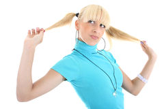 Portrait of blondie girl Royalty Free Stock Photography