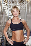 Portrait on blonge fitness woman Stock Images