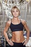 Portrait on blonge fitness woman Stock Images