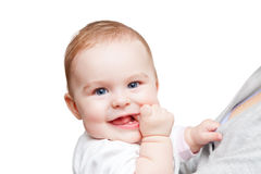 Portrait of blue-eyed baby Royalty Free Stock Images