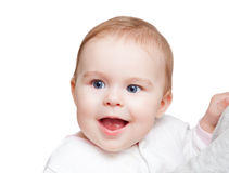 Portrait of blue-eyed baby Stock Image