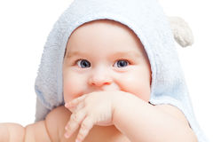 Portrait of blue-eyed baby Royalty Free Stock Photography