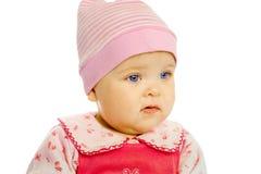 Portrait of blue-eyed baby Stock Photos
