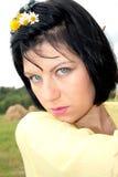 Portrait blue-eyed brunette Royalty Free Stock Photos