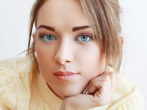 Portrait blue eyes Royalty Free Stock Images