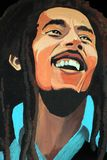Portrait of Bob Marley. An artistic portrait or drawing of the late reggae singer, songwriter and musician, Bob Marley Stock Images