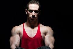Portrait Of A Bodybuilder Isolate on Black Blackground Royalty Free Stock Photo