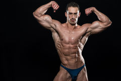 Portrait Of A Bodybuilder Isolate on Black Blackground Royalty Free Stock Photo